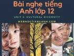 Bài nghe tiếng Anh lớp 12 Unit 2: Cultural diversity