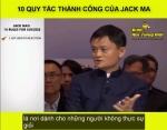 10 quy tắc thành công của Jack Ma