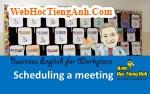 Tình huống 5: Lên lịch họp - Tiếng Anh công sở (Việt - Anh)