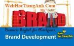 Tình huống 88: Phát triển thương hiệu - Tiếng Anh công sở (Việt-Anh)