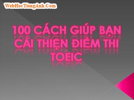 100 cách giúp bạn cải thiện điểm thi TOEIC - phần 1