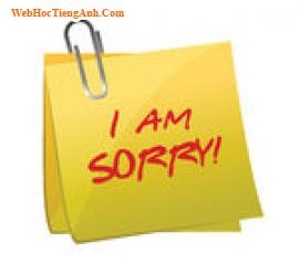 10 cách nói xin lỗi trong tiếng Anh