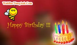 200 lời chúc mừng sinh nhật bằng tiếng Anh cực hay