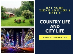 Bài nghe tiếng Anh lớp 8 Unit 8: Country Life and City Life