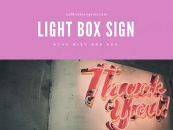 Bảng hiệu hộp đèn tiếng Anh là gì?