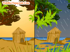 Bài nghe tiếng anh lớp 6 Unit 13 Activities and the Seasons - part A1 The weather and seasons