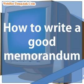 Bí quyết viết Memo