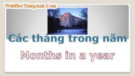 Học từ vựng bằng hình ảnh: Các tháng trong năm (Months of Year)