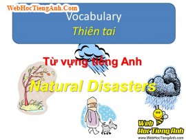 Học từ vựng bằng hình ảnh: Thiên tai (Natural Disasters)