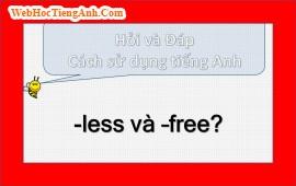 -less và –free?