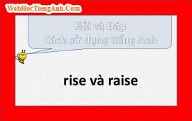 Sự khác nhau giữa rise và raise?