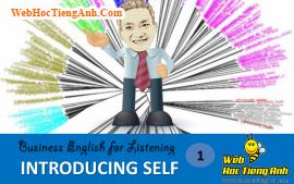 Tình huống 1: Giới thiệu về bản thân - Tiếng Anh thương mại (Việt - Anh)