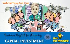 Tình huống 33: Đầu tư vốn - Tiếng Anh thương mại (Việt-Anh)