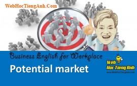 Tình huống 80: Thị trường tiềm năng - Tiếng Anh công sở (Việt-Anh)