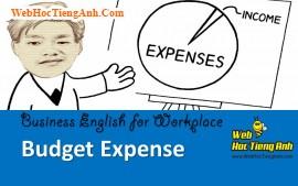 Tình huống 82: Chi tiêu ngân sách - Tiếng Anh công sở (Việt-Anh)