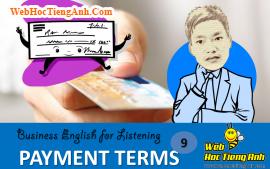 Tình huống 9: Điều khoản thanh toán - Tiếng anh thương mại (Việt - Anh)