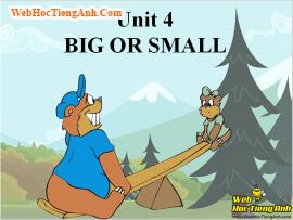 Từ vựng tiếng Anh lớp 6 Unit 4 Big or small