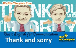 Video: Thank you & Sorry - Basic English for Communication