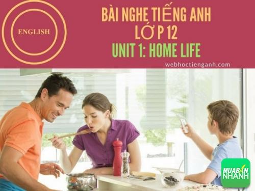 Bài nghe tiếng Anh lớp 12 Unit 1: Home Life