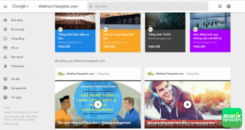 Google Plus WebHocTiengAnh - Bee Learn English