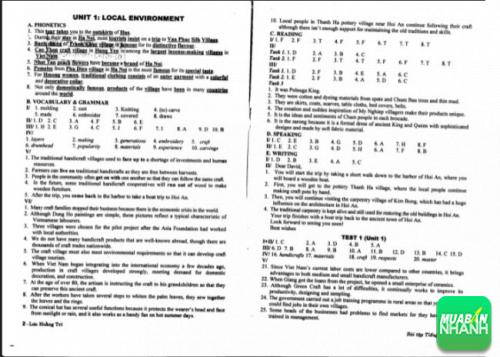 Tải đáp án bài tập tiếng Anh 9 Lưu Hoằng Trí PDF